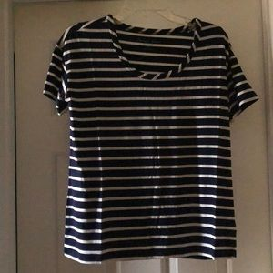 NEW Draper James Striped Scoop Neck Tee